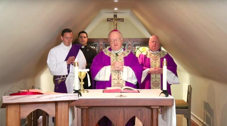 Diocese of Camden easter holy week masses coronavirus