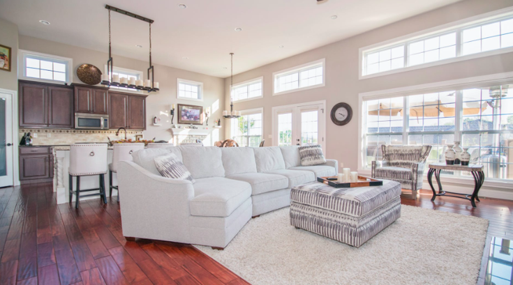 A home interior living room