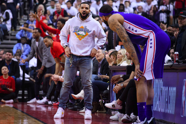 Sixers Drake Raptors