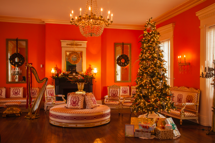 Historic Houses of Fairmount Park at Christmas, decorated for holidays
