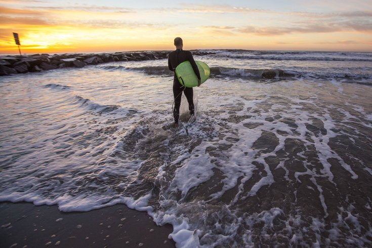 Stock image of surfing and the ocean