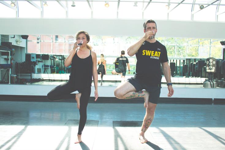 Wine and yoga
