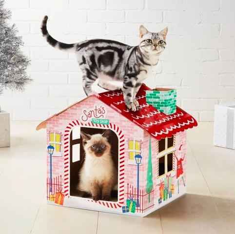 Target's Wondershop holiday-themed cat scratchers