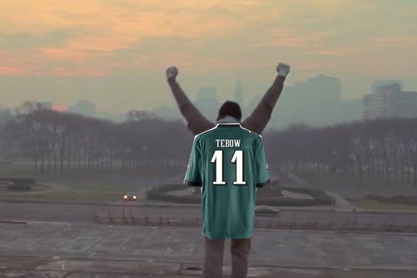 """Tim """"Rocky"""" Tebow."""