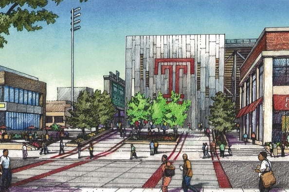 rendering temple stadium pw