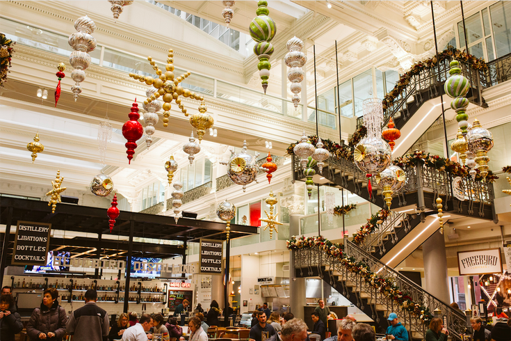 The Bourse Deck the Food Hall event