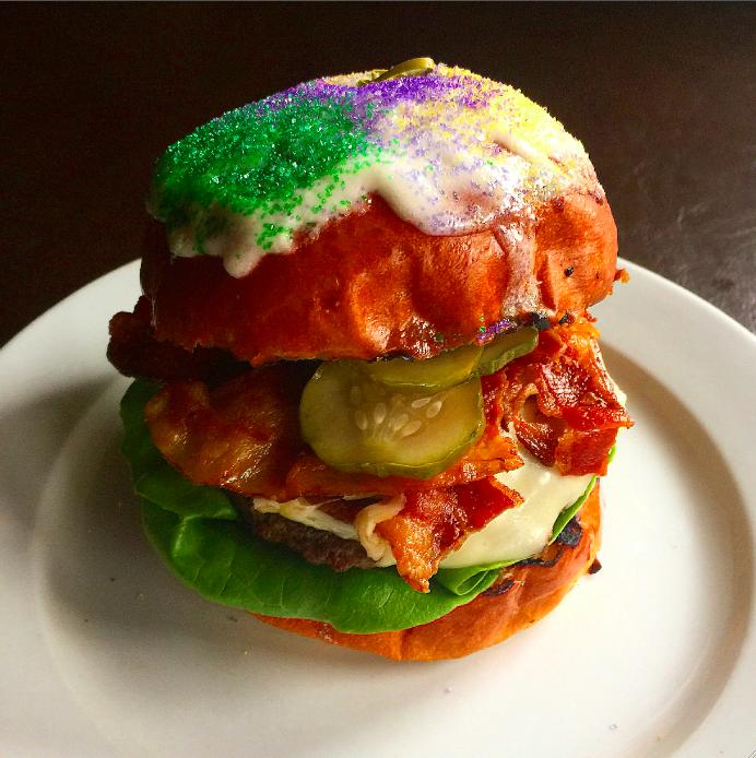 The King Cake Burger at Rex 1516