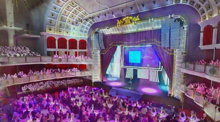 inside the met 3 - cabaret set up