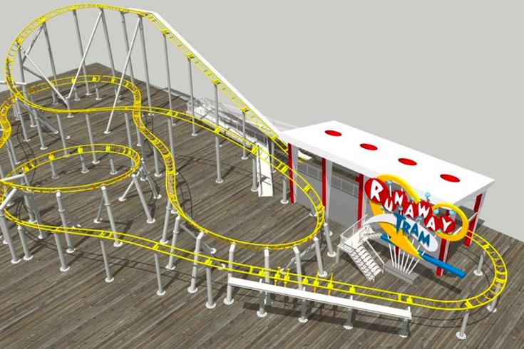 Tramcar roller coaster