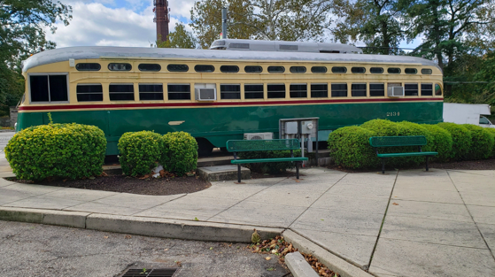 Trolley Car Ice Cream Shoppe donated to Fishtown for Fillmore Philadelphia courtyard