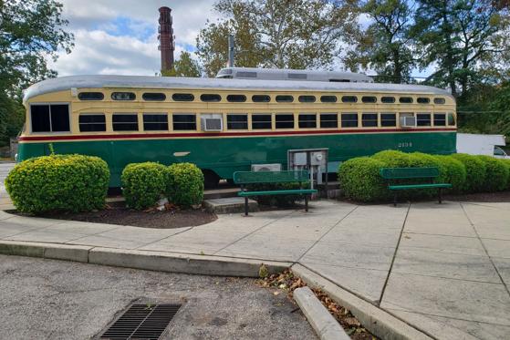 Trolley Car Ice Cream Shoppe donated to Fishtown for Fillmore Philadelphia courtyard