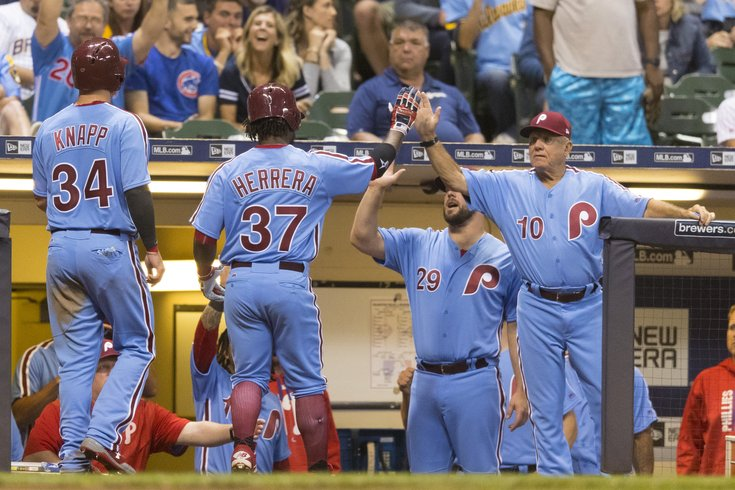 Phillies will wear powder blue throwbacks for certain games in 2018 ... 50433bbcb19