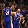 Joel Embiid, JJ Redick - USA TODAY
