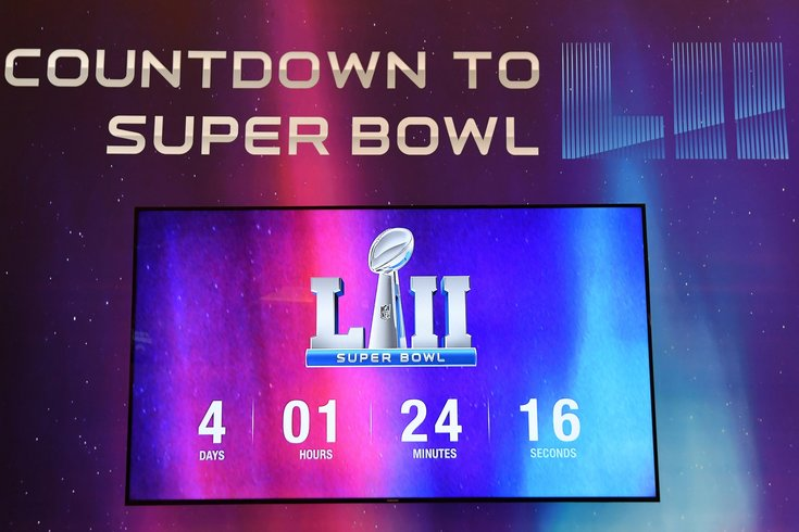 Super Bowl LII Countdown Clock