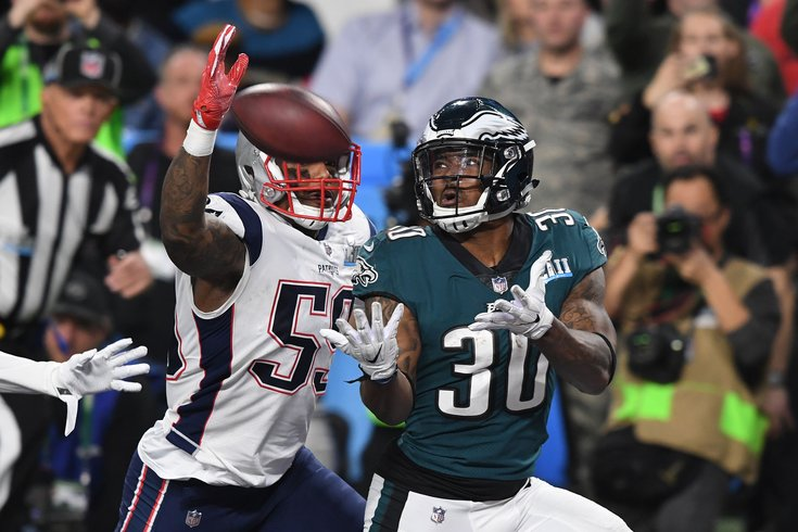a49352b8629 USATSI_10588322 (1).jpg John David Mercer/USA TODAY Sports. Philadelphia  Eagles running back Corey Clement catches a touchdown pass in ...