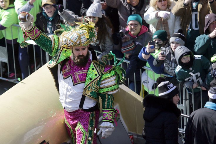 96b83c787 Bobblehead immortalizes Eagles  Jason Kelce as a Mummer