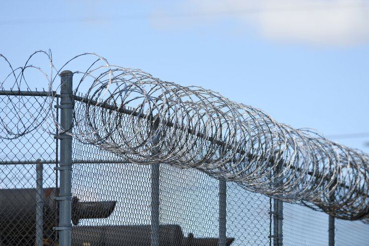 prison strike barbed wire