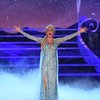 Caissie Levy as Elsa performs a scene from the musical Frozen at the 72nd Tony Awards at Radio City Music Hall.