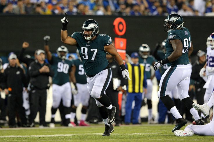 1d467b3ae 101118-DestinyVaeao-USAToday Brad Penner USA Today. Philadelphia Eagles  defensive tackle Destiny Vaeao celebrates after a sack against New York  Giants ...