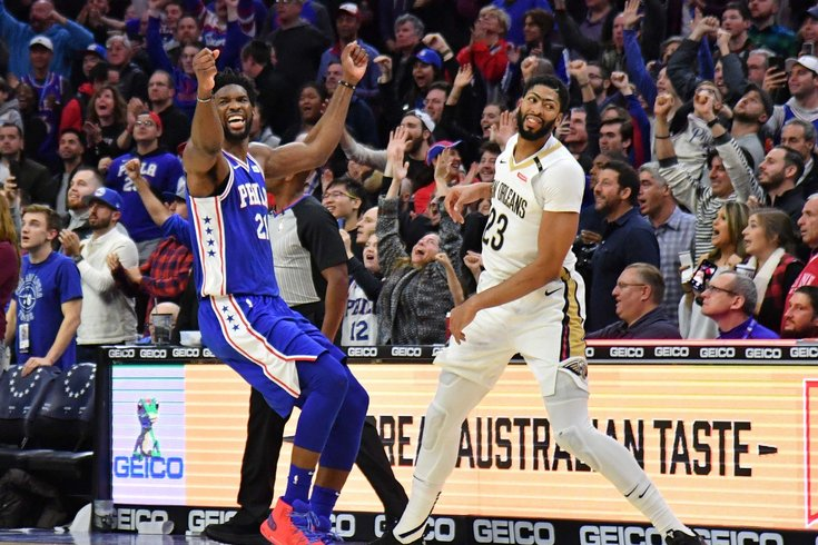 509738a21 Sixers mailbag  Would you trade Joel Embiid for Anthony Davis ...