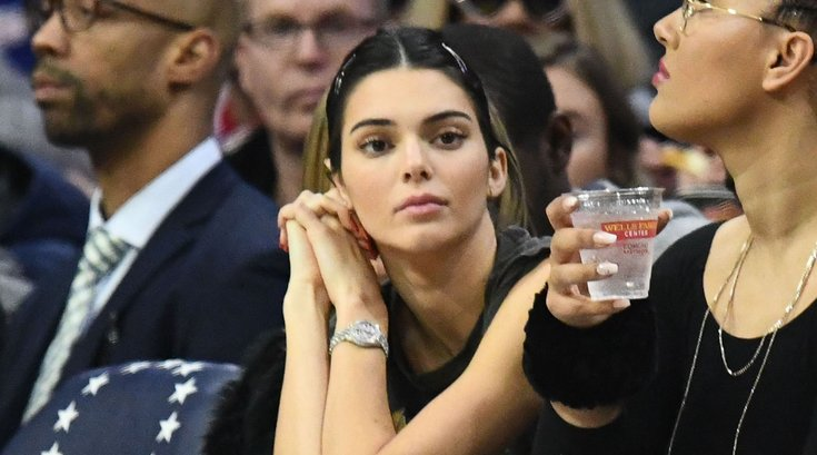 Kendall Jenner Sixers game