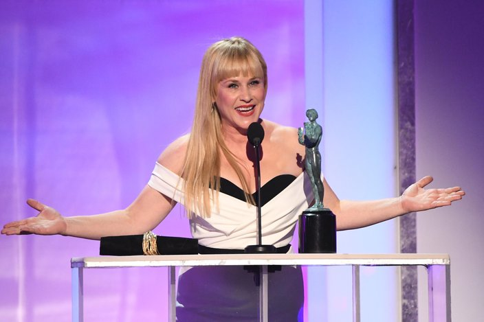 Patricia Arquette wins outstanding performance by a female actor in a television movie or limited series