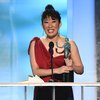 Sandra Oh accepts the award for outstanding performance by a female actor in a drama series