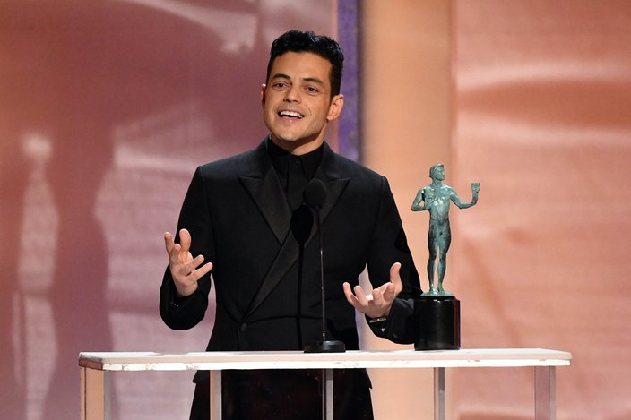 Rami Malek accepts award for best actor for