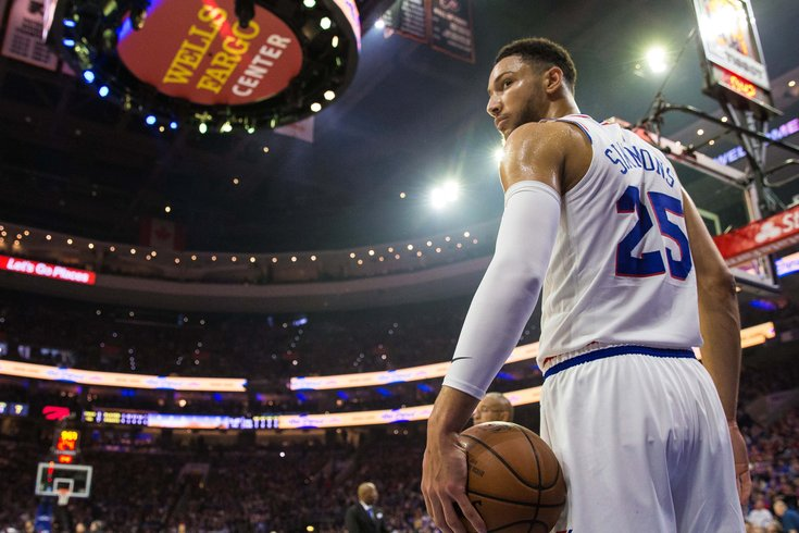 7963746d99a8 Ben-Simmons-Sixers 050719 usat Bill Streicher USA TODAY Sports. Philadelphia  76ers guard Ben Simmons holds the ball during ...