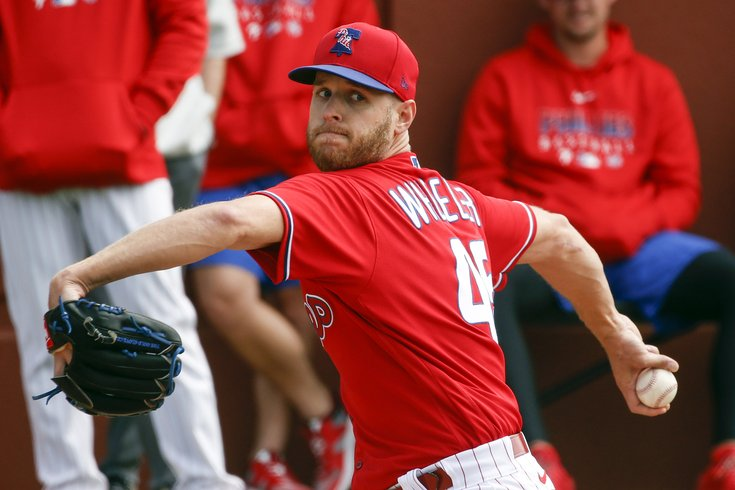 Image result for phillies spring training zach wheeler