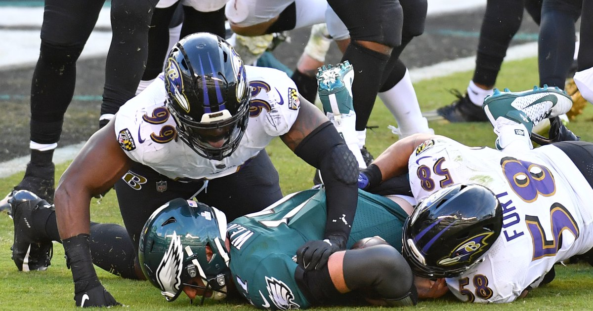 A look at the Eagles' NFL-leading 32 sacks allowed, with gifs and stuff