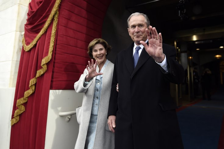 President George W. Bush and former first lady Laura Bush to receive Liberty Medal for philanthropic work with veterans