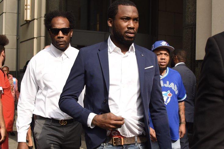 Meek Mills leave court