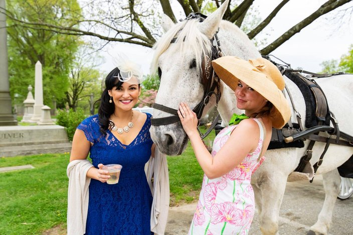 Kentucky Derby Party at West Laurel Hill Cemetery