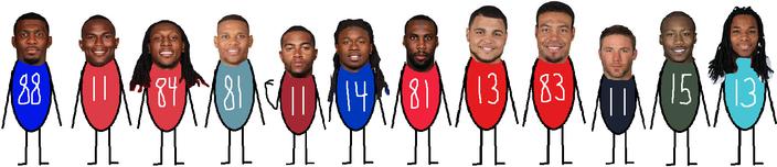 WRs vs Giants