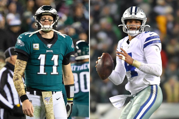 What They Re Saying Carson Wentz Vs Dak Prescott And The Eagles
