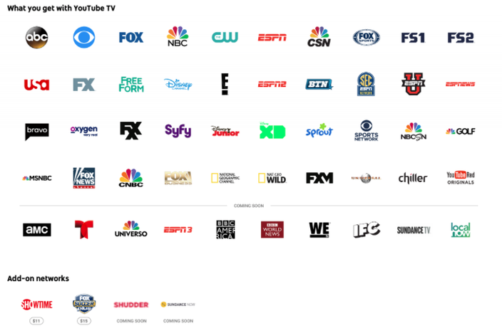 YouTube TV launch includes CSN Philly on roster of channels