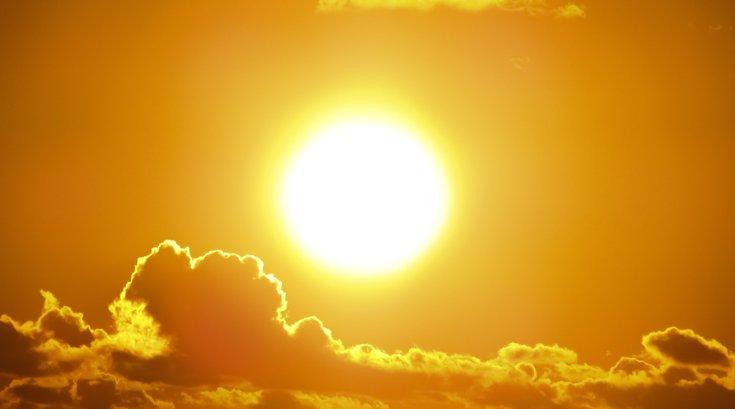 Hot sun in summer