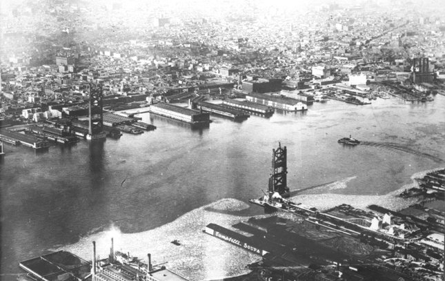 Ben Franklin Bridge construction 6