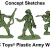 Army women plastic toys