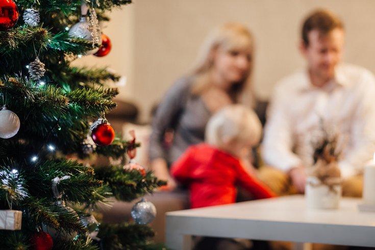 Baby Christmas blurred