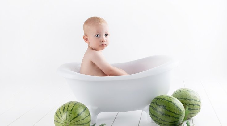 babies and fruit pexels