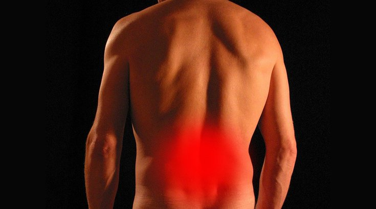 Back pain improved by hip replacement