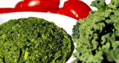 Limited - Basil-Kale Pesto with Grape Tomatoes and Tofu