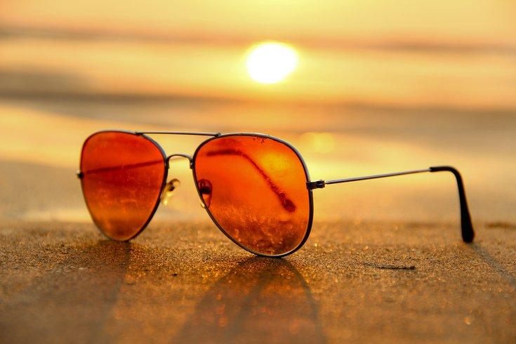 Sunglasses on a beach