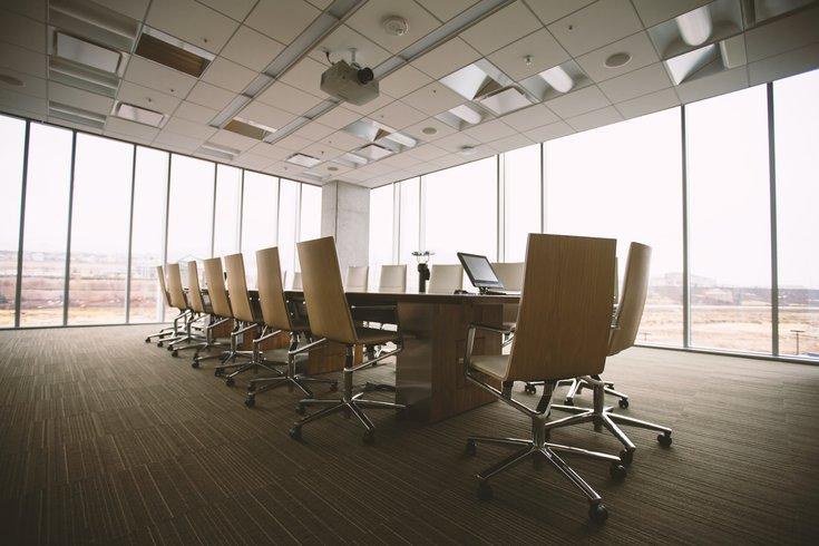 Photo of empty boardroom