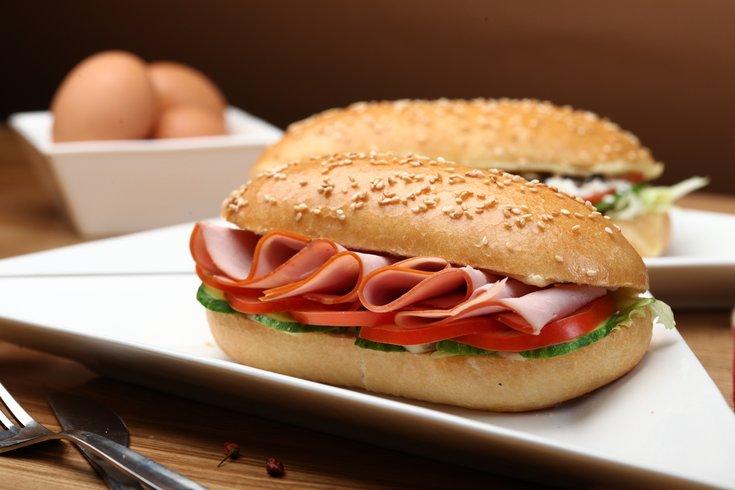 Lunch meat sandwich