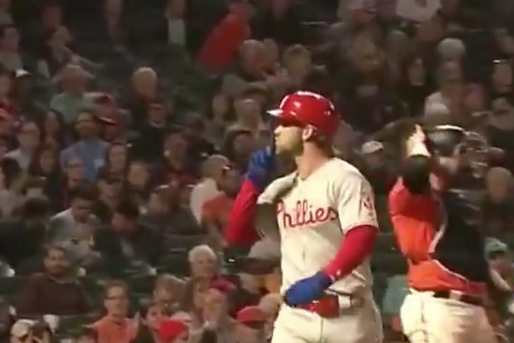 Bryce Harper Giants fans shush