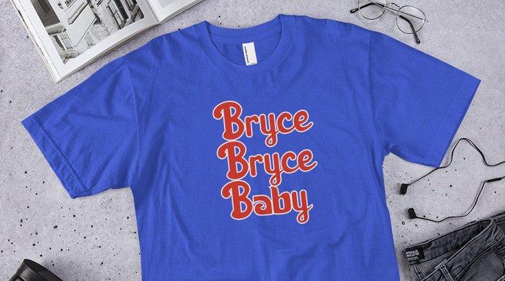 Phillies Bryce Harper t-shirt etsy