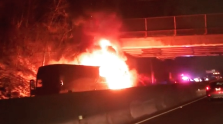 Bus fire southern virginia lacrosse
